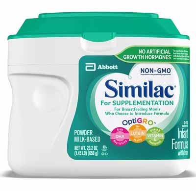 Similac for supplementation infant formula