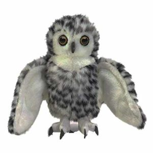 Snowy owl hand puppets for babies