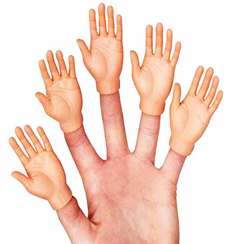 Accoutrment's a set of 10-hands Best Finger puppets