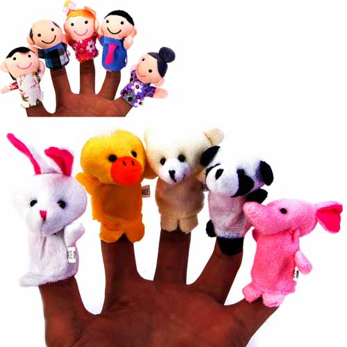BetterLine 20 piece animal and human finger puppets for Children