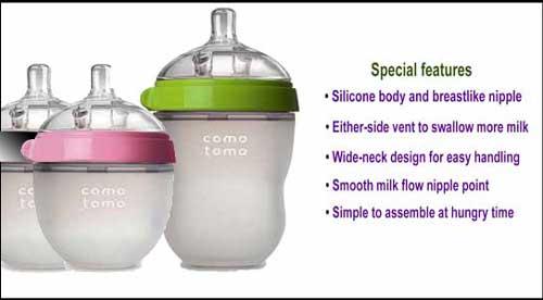 Comotomo's baby bottles