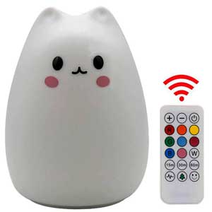 SCOPOW's Remote Control silicon cat night light for feeding baby
