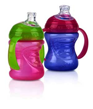 Nuby2 pack two handle sippy cup